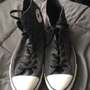 Charcoal grey like new high top Converse